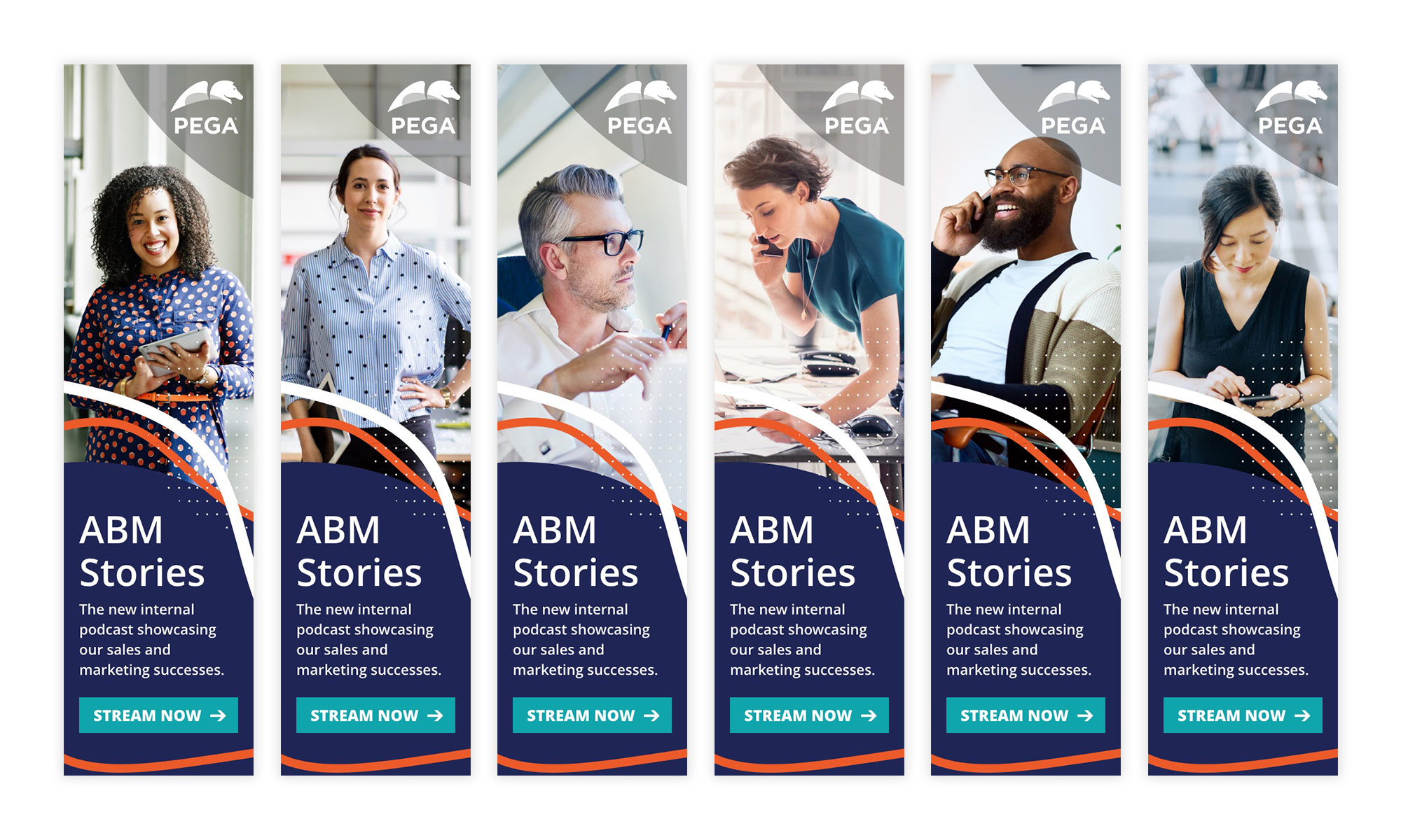 <strong>PEGA</strong> ABM Stories campaign banners